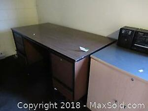 F. Metal Office Desk C