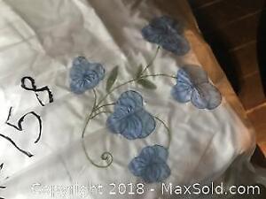 Duvet Cover Full Madeira hand embroidered Pickup B