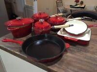 Cast Iron Saucepan Set