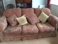 John Lewis 3-seater sofa and armchair