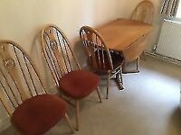 Ercol Dining Room Table And Chairs With Cushions Included