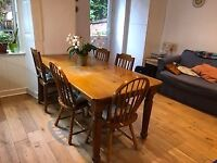 Free dining table+ chairs- good condition