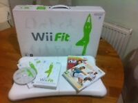 Nintendo Wii Fit Board & 3 Games