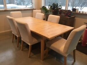 Table IKEA et chaises HENRIKSDAL