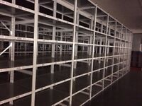 JOBLOT 50 bays of LINK industrial shelving 3m high AS NEW ( storage , pallet racking )