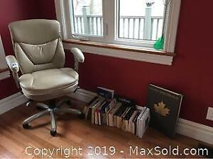 Office Chair And Book Lot