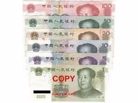Exchange your Chinese RMB currency for £ sterling. I WILL CHANGE ALL YOUR COINS AND NOTES