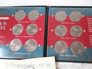 The Complete Collection Of America's New Nickel Designs With COA Pictured.