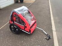 HALFORDS SINGLE BUGGY CHILD BIKE TRAILER. Suitable from 12 months. Excellent condition.