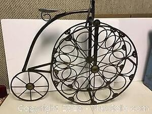Cast Iron Penny Farthing Bicycle wine rack