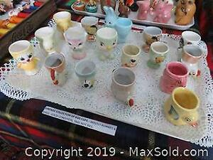 Vintage Collection Of Egg cups A
