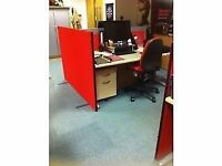 Red Office Divider