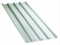 50 new roof sheets, 10ft x 2ft9, galv steel, box profile