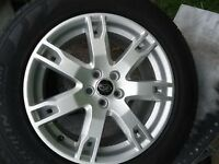"""18"""" 235/60 set of 4 Range Rover Evoque Alloy Wheels and Tyres"""