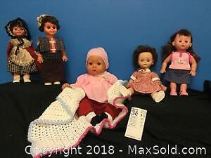 Antique Dolls, Weighted Baby Doll