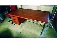 Large Desk with three drawers Good Condition