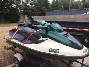 1996 sea doo gtx 800 / trailer