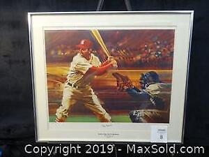 "Signed ""Stan the Man"" Musial Print"