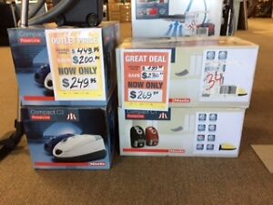 CLEARANCE MIELE Canister vacuums at Sears in Brandon