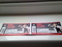 Two Robbie Williams Tickets for 9 June 2017 at Murrayfield Stadium