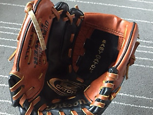 wilson easy catch junior baseball glove for right hand