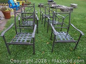 Set Of 6 Patio Chairs B