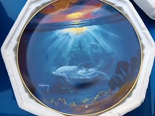 Franklin Mint Dolphin Heirloom Collection Plates Glenwood Blacktown Area Preview
