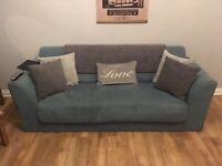 Duck Egg Blue 3 Seater Sofa & Armchair