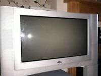 old style jvc flatscreen tv with remote good condition
