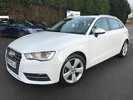 AUDI A3 1.6 TDi SPORT 5dr * Full Leather * (white) 2014