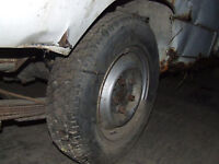 PEUGEOT 504 PICKUP WHEEL WITH TYRE DEBICA 185R15C Breaking for parts