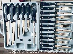 Set of Stainless Steel Inox Messer Cutlery and Knives