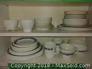 Corelle Dish Set And Other Dishes