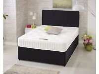 Delivery Today Single Double Bed King Super King Black Light Grey Cream Headboard Options