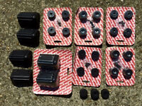 JobLot - PA SPEAKER RUBBER FEET & CORNER PROTECTORS - DJ Band Live Gig Club Portable Party Event