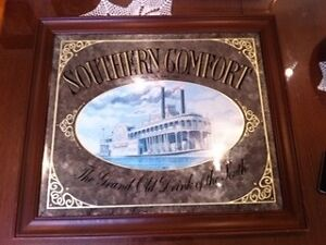 Original Southern Comfort Bar Mirror Richmond Yarra Area Preview