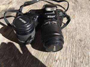 Nikon F50 SLR Camera and Tripod Bradbury Campbelltown Area Preview