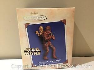 "Hallmark Keepsake Christmas Ornament Star Wars : The Empire Strikes Back ""Chewbacca and C-3PO"""