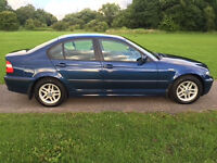 BMW 316i Petrol,Blue,03 Reg,73000 Miles,Very Good Service History,12 months MOT,Full Black Leather