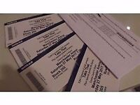 4 x take that tickets 27th may manchester 2017