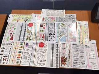 Scrapbooking - Rub ons 20 Packets