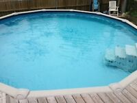 Above Ground Pool (18 ft) & Electric Pool Heater (50,000 btu)