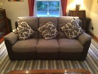 Sofas in excellent condition.Curved 5 seater sofa and matching 3 seater sofa.