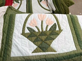Two Matching Single Size Quilt Bed Sofa Throws
