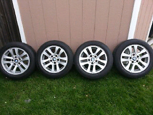 "BMW  16"" rims & tires  205/55RF16"