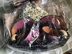 Set of espresso cups with napkins and placemats - NEW