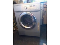 silver lg dual display direct drive washing machine 7.5kg