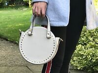 Pink TOPSHOP handbag with gold coloured studs
