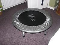 V-fit indoor exercise trampoline