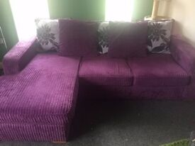 Purple Chaise Lounge Sofa / Couch